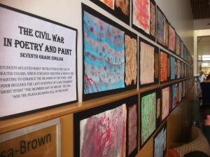 civil war poetry wall